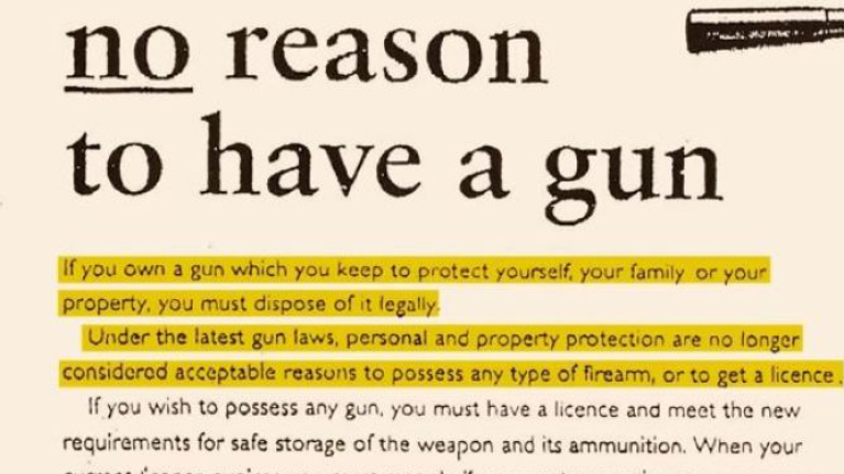 No reason to have a gun